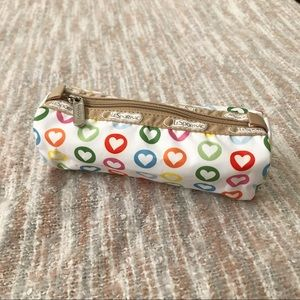 LeSportsac heart print cosmetic pouch